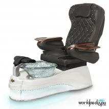 Gulfstream Ampro Pedicure Chair - Black White