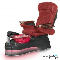 Gulfstream Ampro Pedicure Chair - Burgundy BLack