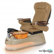 Gulfstream Ampro Pedicure Chair - Curry Cappuccino