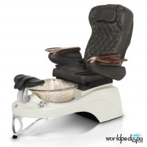 Gulfstream Camellia 2 Pedicure Chair - 9660 Black White