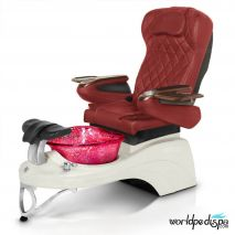 Gulfstream Camellia 2 Pedicure Chair - Burgundy