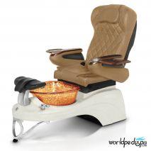 Gulfstream Camellia 2 Pedicure Chair - Curry White