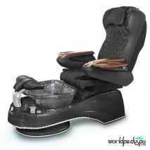 Gulfstream Camellia Pedicure Chair - Black