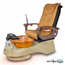 Gulfstream Camellia Pedicure Chair - Butterscotch Cappuccino