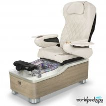 Gulfstream Camellia Pedicure Chair - White Clear