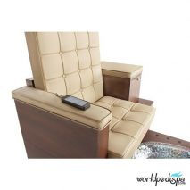Gulfstream GS Paris Double Pedicure Bench - Remote