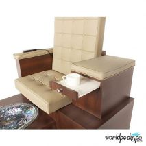 Gulfstream GS Paris Double Pedicure Bench - Tray