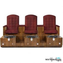 Gulfstream GS Paris Triple Pedicure Bench - Front View