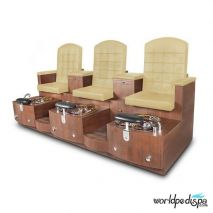 Gulfstream GS Paris Triple Pedicure Bench - Sand