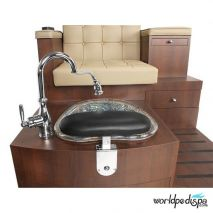 Gulfstream GS Paris Triple Pedicure Bench - Upgraded Faucet