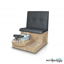 Gulfstream GS Selena Pedicure Bench - Black Clear Bowl