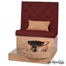 Gulfstream GS Selena Pedicure Bench - Burgundy
