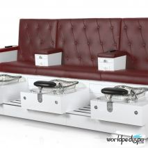 Gulfstream GS Vienna Triple Pedicure Bench - Hollyhock