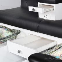 Gulfstream GS Vienna Triple Pedicure Bench - Tray and Drawer