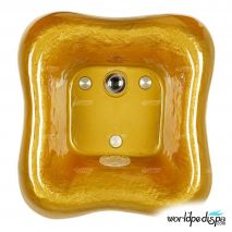 Gulfstream GS-5004 La Fleur Glass Bowl - Gold
