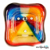 Gulfstream GS-5004 La Fleur Glass Bowl - Rainbow