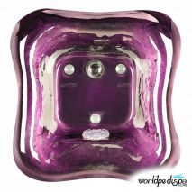 Gulfstream GS-5004 La Fleur Glass Bowl - Purple