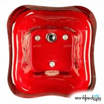 Gulfstream GS-5004 La Fleur Glass Bowl - Red