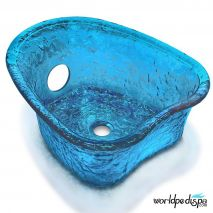 Gulfstream GS5012 Heartshape Glass Bowl - Blue