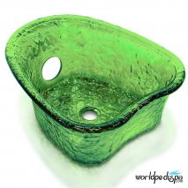 Gulfstream GS5012 Heartshape Glass Bowl - Green