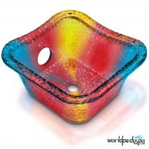 Gulfstream GS5015 Hard Rock Glass Bowl - Rainbow