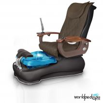 Gulfstream La Fleur III Pedicure Chair - 9620 Truffle Black with Blue Base