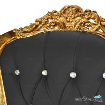Gulfstream La Queen Throne Chair - BLack Closer view