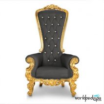 Gulfstream La Queen Throne Chair - Black Front View