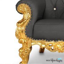 Gulfstream Queen Chair - Black Legs
