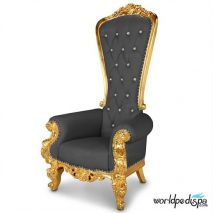 Gulfstream La Queen Throne Chair - Black