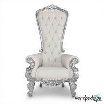 Gulfstream La Queen Throne Chair - White Front View