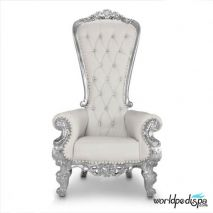 Gulfstream Queen Chair - White Front View