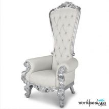 Gulfstream La Queen Throne Chair - White