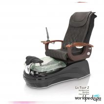 La Tulip 2 Pedicure Chair - 9620 Black Black Clear