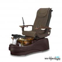 Gulfstream La Tulip 3 Pedicure Chair - Truffle Mahogany Rustic Gold
