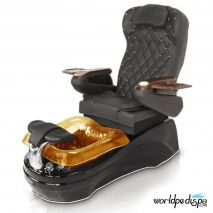 La Tulip 2 Pedicure Chair - 9660 Black Black Gold