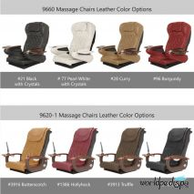 La Tulip 2 Pedicure Chair - Leather Color Options