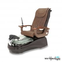 La Tulip 2 Pedicure Chair - Truffle Black Clear