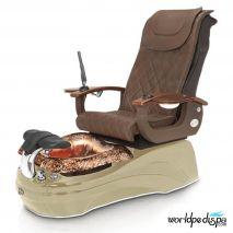 La Tulip 2 Pedicure Chair - Truffle Cappuccino Rustic Gold