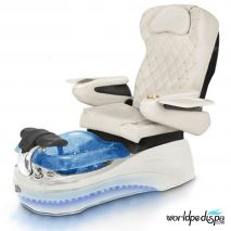 La Tulip 2 Pedicure Chair - White White Blue