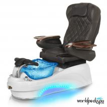 Gulfstream La Tulip 3 Pedicure Chair - Black White Blue with LED