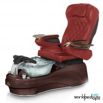 Gulfstream La Tulip 3 Pedicure Chair - Burgundy Mahogany Clear