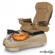 Gulfstream La Tulip 3 Pedicure Chair - Curry Cappuccino Gold