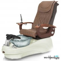 Gulfstream La Tulip 3 Pedicure Chair - Gulfstream La Tulip 3 Pedicure Chair - Truffle White Clear