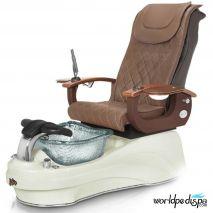 Gulfstream La Tulip 3 Pedicure Chair - Gulfstream La Tulip 3 Pedicure Chair - Truffle White Clear