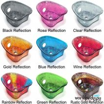 Gulfstream GS Kimberly Double Pedicure Bench Glass Bowl Color Options