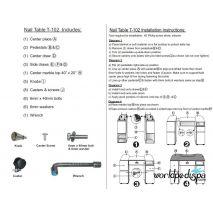 Cut Sheet  - T102 Nail Table