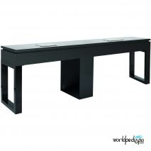 Black Valentino Lux Double Table Front