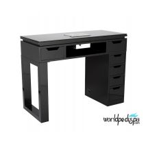 Black Valentino Lux Manicure Table Front