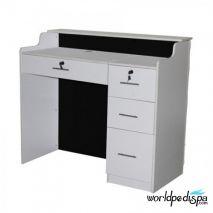 Back Black High Counter - Fab Reception Desk